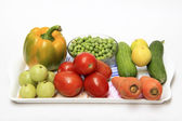 Tray of Colorful Vegetables — Stock Photo