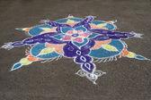 Kolorowe promienie rangoli — Zdjęcie stockowe