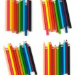 Multicolored pencils isolated on white background — Stock Photo #13272501