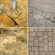 Set of stone textures - Foto Stock