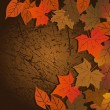 Leaf, autumn - vector background - Imagens vectoriais em stock