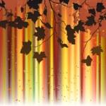 Leaf, autumn - vector background — Stock Vector