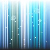Fond de l'hiver, les flocons de neige - illustration vectorielle — Vecteur