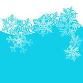 Winter background, snowflakes - vector illustration — Stock Vector
