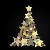 Fondo de navidad, árbol de abstracta — Vector de stock