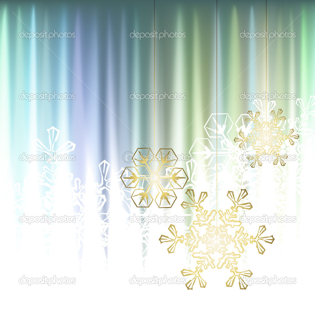 Winter background, snowflakes - vector illustration — Stock Vector #14164880