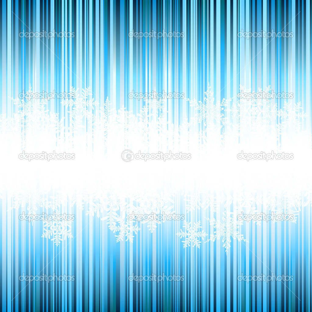 Winter background, snowflakes - vector illustration — Stock Vector #14528565