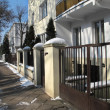 Winter, sunny day on street in Warsaw — Stock Photo #15540969