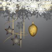 зимний фон с рождественские украшения — Cтоковый вектор
