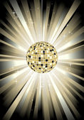 Disco sphere in gold color — Stock Vector