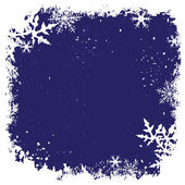 Winter background with snowflakes. — Vector de stock