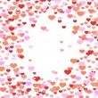 Stock Vector: Abstract valentine background with hearts
