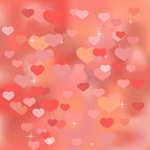 Abstract valentine background with hearts — Stock Vector
