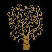Осень - абстрактное дерево — Cтоковый вектор