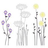 Цветочный фон, цветущие цветы — Cтоковый вектор