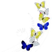 Vector background with a butterfly — Vecteur