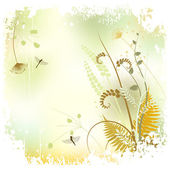 Floral background, meadow in summer time — Stock Vector