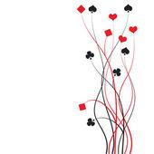 Poker, bridge - jeu de cartes — Vecteur