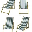 Deckchairs isolated on white with clipping path - Foto Stock