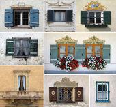 Colorido collage de windows — Foto de Stock
