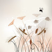 Floral background, meadow in summer time — Vector de stock