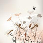 花卉背景,草甸夏季时间 — 图库矢量图片