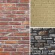 Background of stone. Set of 3 elements — Stock Photo