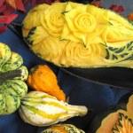 Autumn pumpkins, folk art, sculptures — Stock Photo #31063547