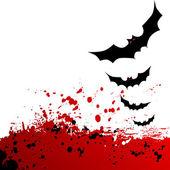 Halloween background. Flying bats. — Stock Vector