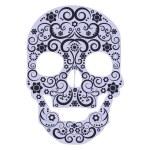Human skull from flowers - vector — Stock Vector