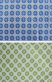 Tablecloth of floral pattern — Stock Photo