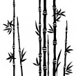 Bamboo branches isolated on the white background. Vector — Stock Vector