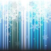 冬天背景、 雪花-矢量图 — 图库矢量图片