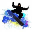 Collection of snowboard, skiers — Stock Vector