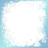 Fondo de invierno, los copos de nieve - ilustración vectorial — Vector de stock