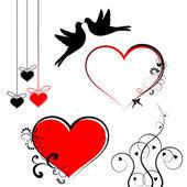 Símbolos do dia dos namorados - set vector — Vetor de Stock