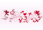 Valentine banner with space for text — Stock Vector