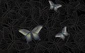 Desktop wallpaper - background with butterflies — Stock Vector