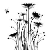 Collection for designers, meadow in summertime, plant vector — Vetorial Stock
