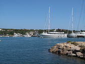 Marina with yachts. Sardinia. — Stock Photo