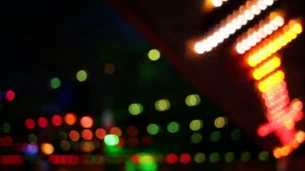 Luces de colores en movimiento (parte 4) — Vídeo de stock