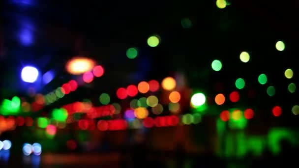 Colorido móvil luces (parte 3) — Vídeo de stock