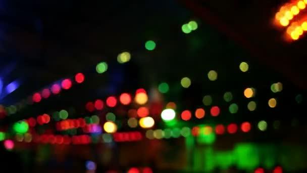 Luces de colores en movimiento (parte 1) — Vídeo de stock