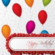 Birthday greeting card design — Stockvectorbeeld