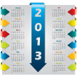 Colorful arrow design calendar — Stock Vector #12013692