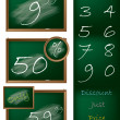 Blackboard theme shopping label set - Stock Vector