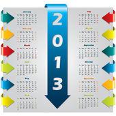 Colorful arrow design calendar — Stock Vector