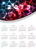 2013 calendar design with plasma header — Stock Vector