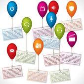 色の風船のインフォ グラフィック デザイン — ストックベクタ