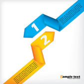 Abstract business brochure design with ribbons — Vector de stock